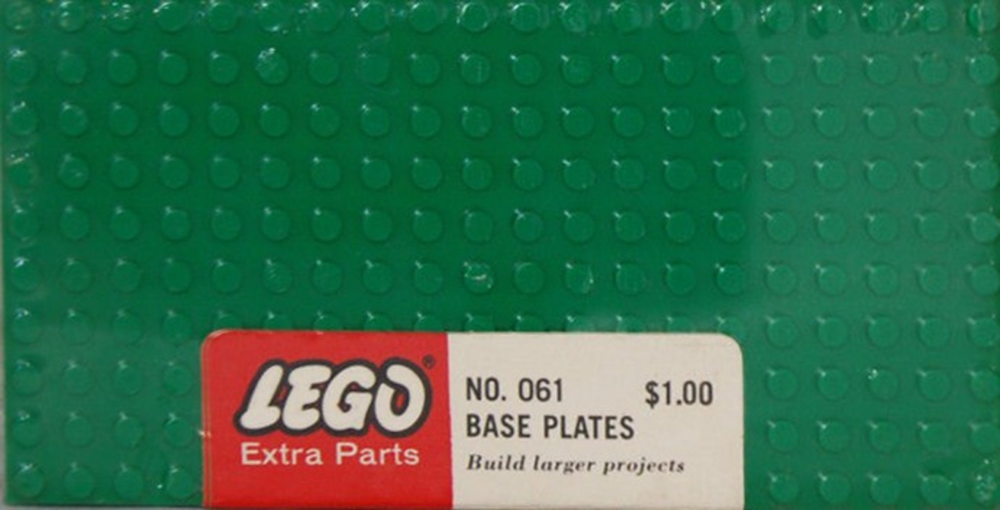 Five Large Base Plates - Green