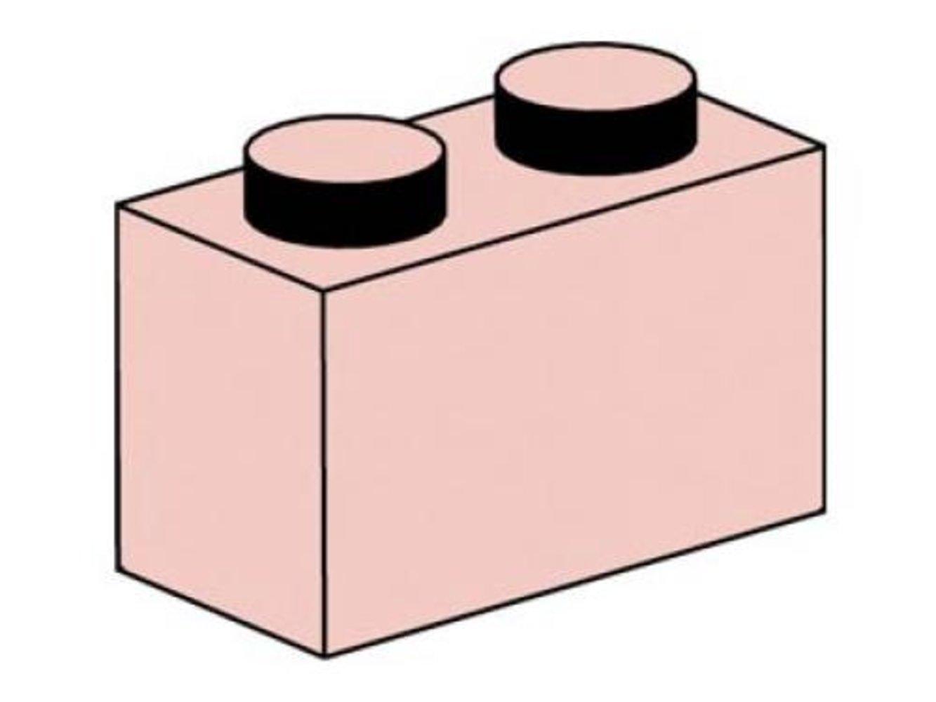1 x 2 Sand Red Bricks