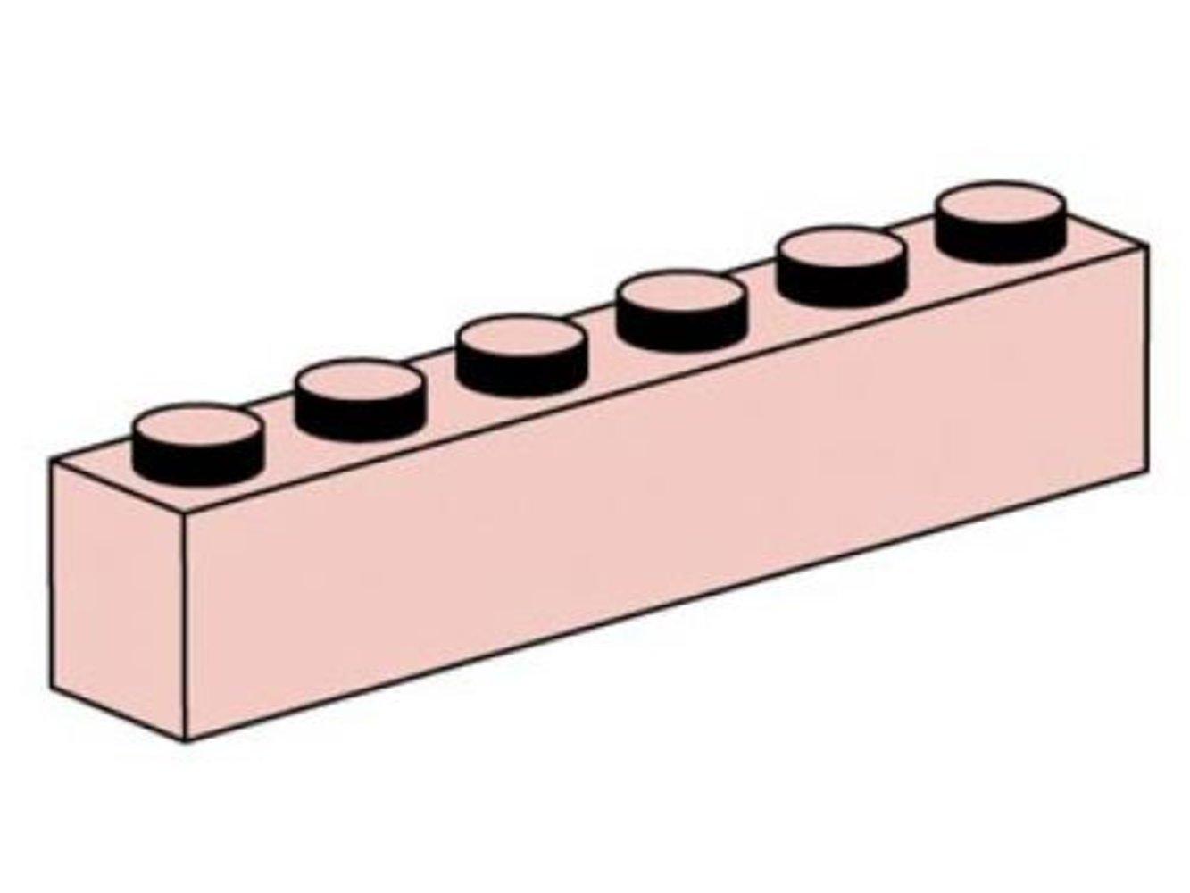 1 x 6 Sand Red Bricks