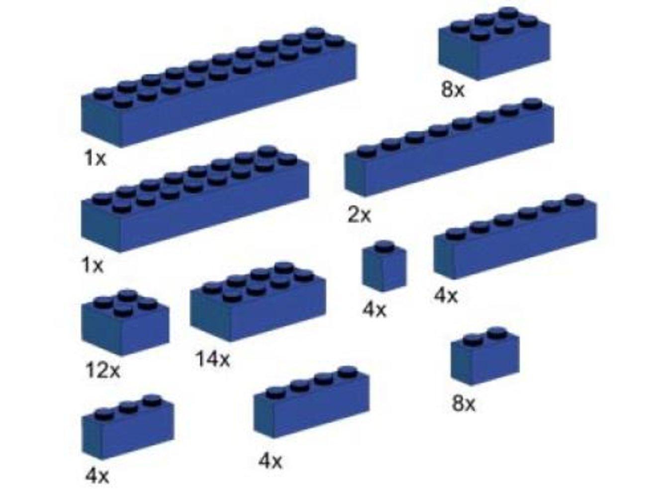 Assorted Blue Bricks