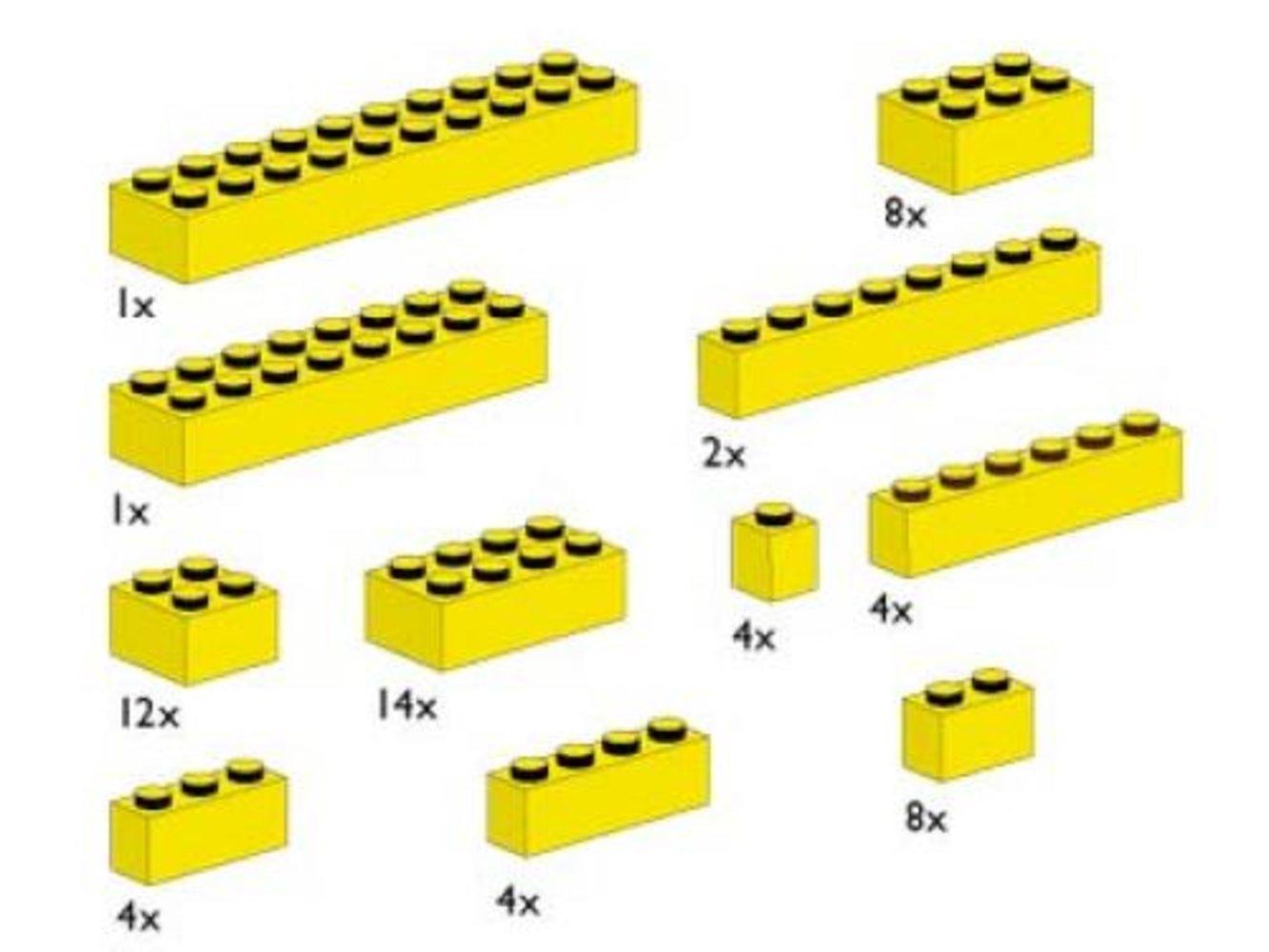 Assorted Yellow Bricks