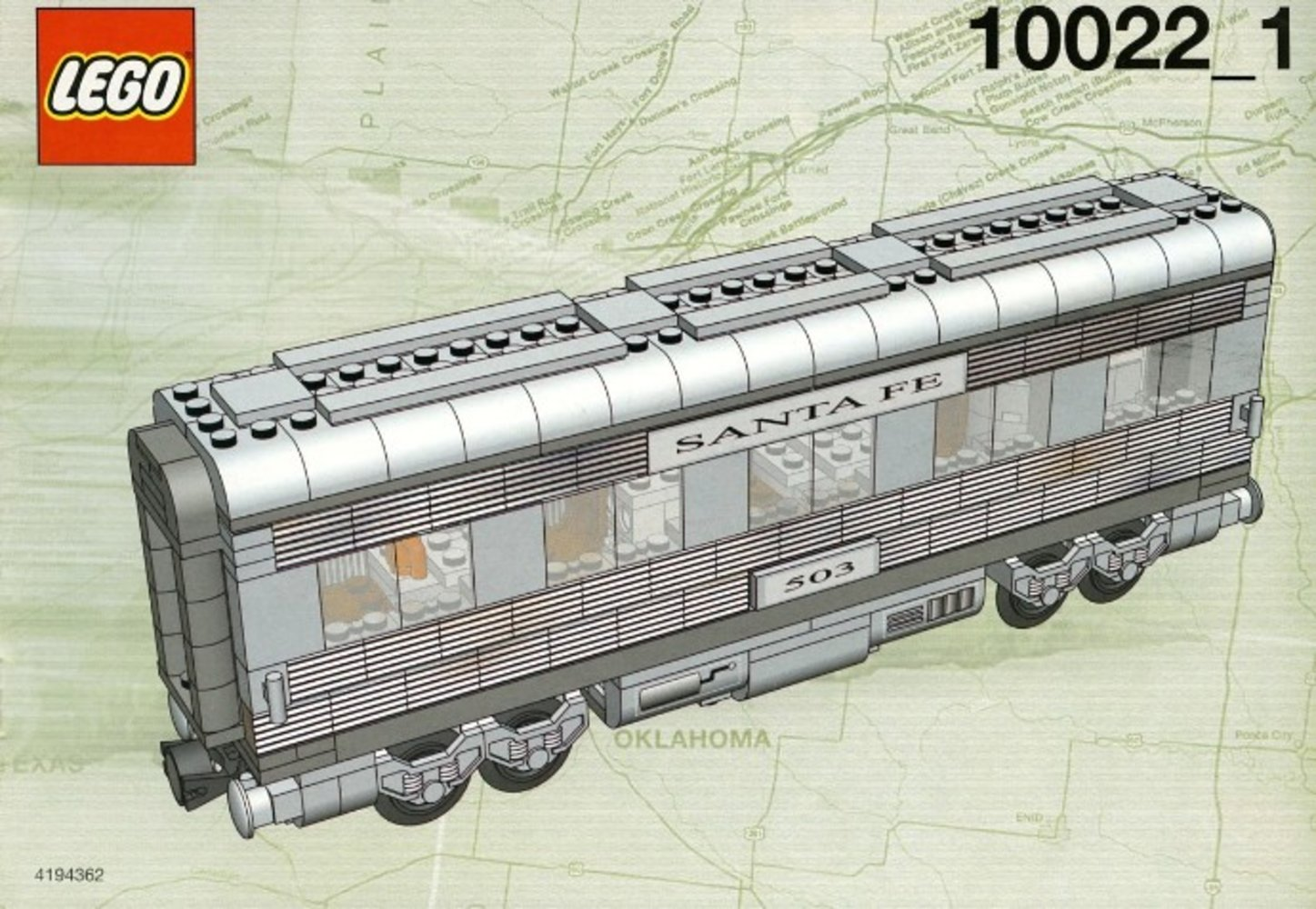 Santa Fe Cars - Set II (dining, observation, or sleeping car)