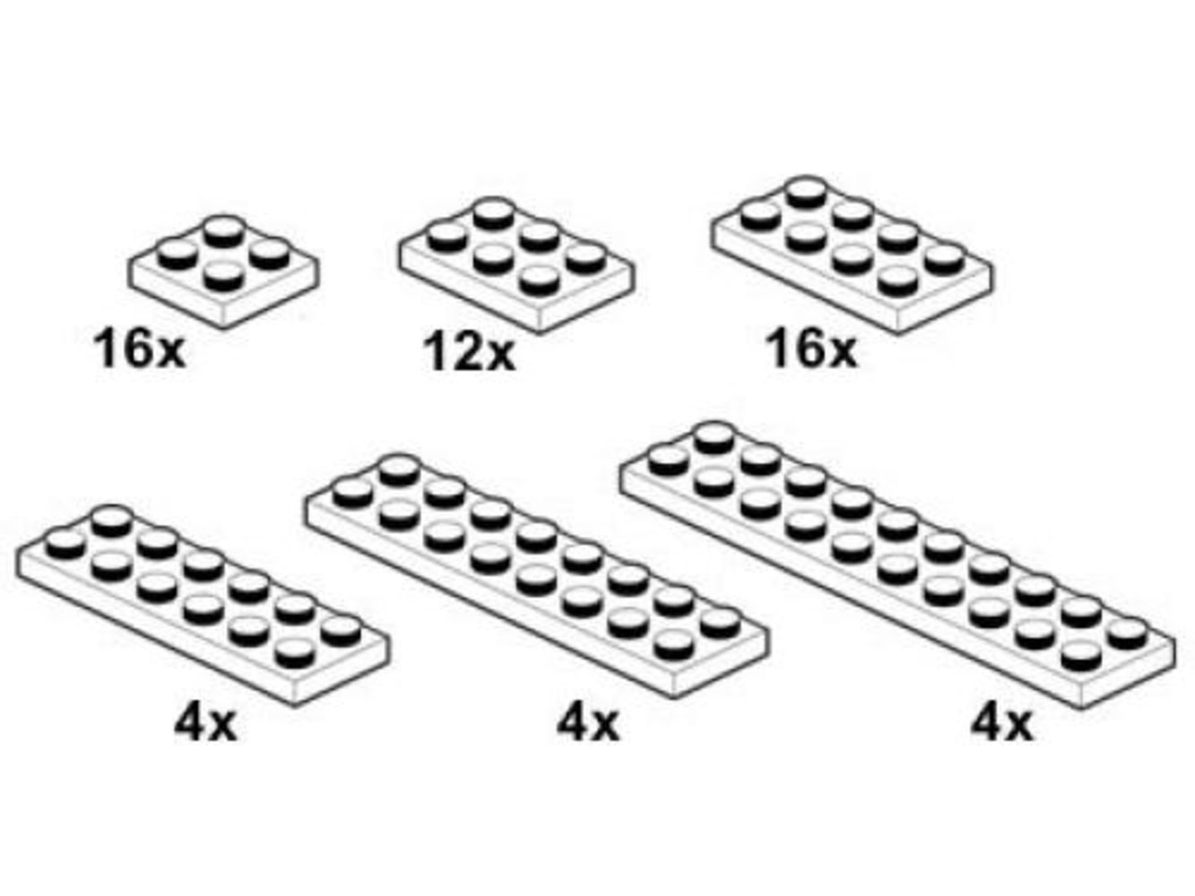 White Plates 2 x n