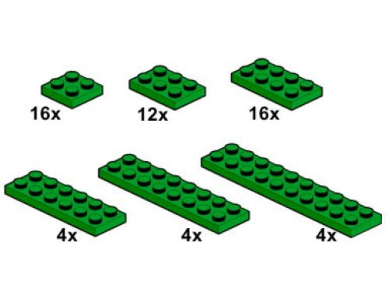 Dark Green Plates 2 x n