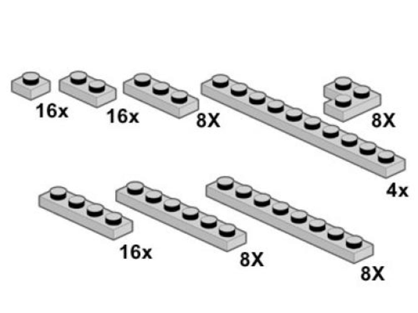 Light Gray Plates 1 x n