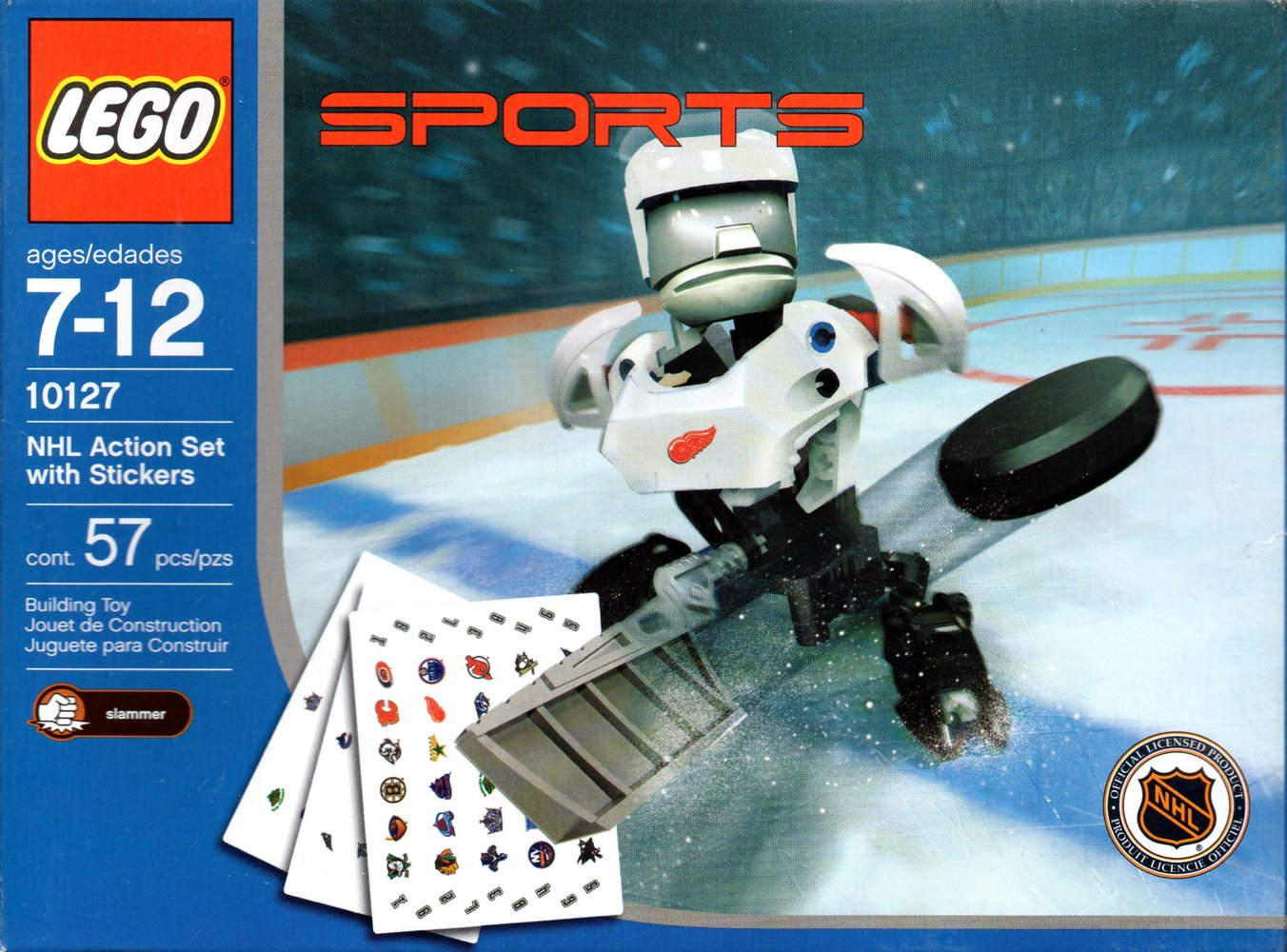 NHL Action Set with Stickers