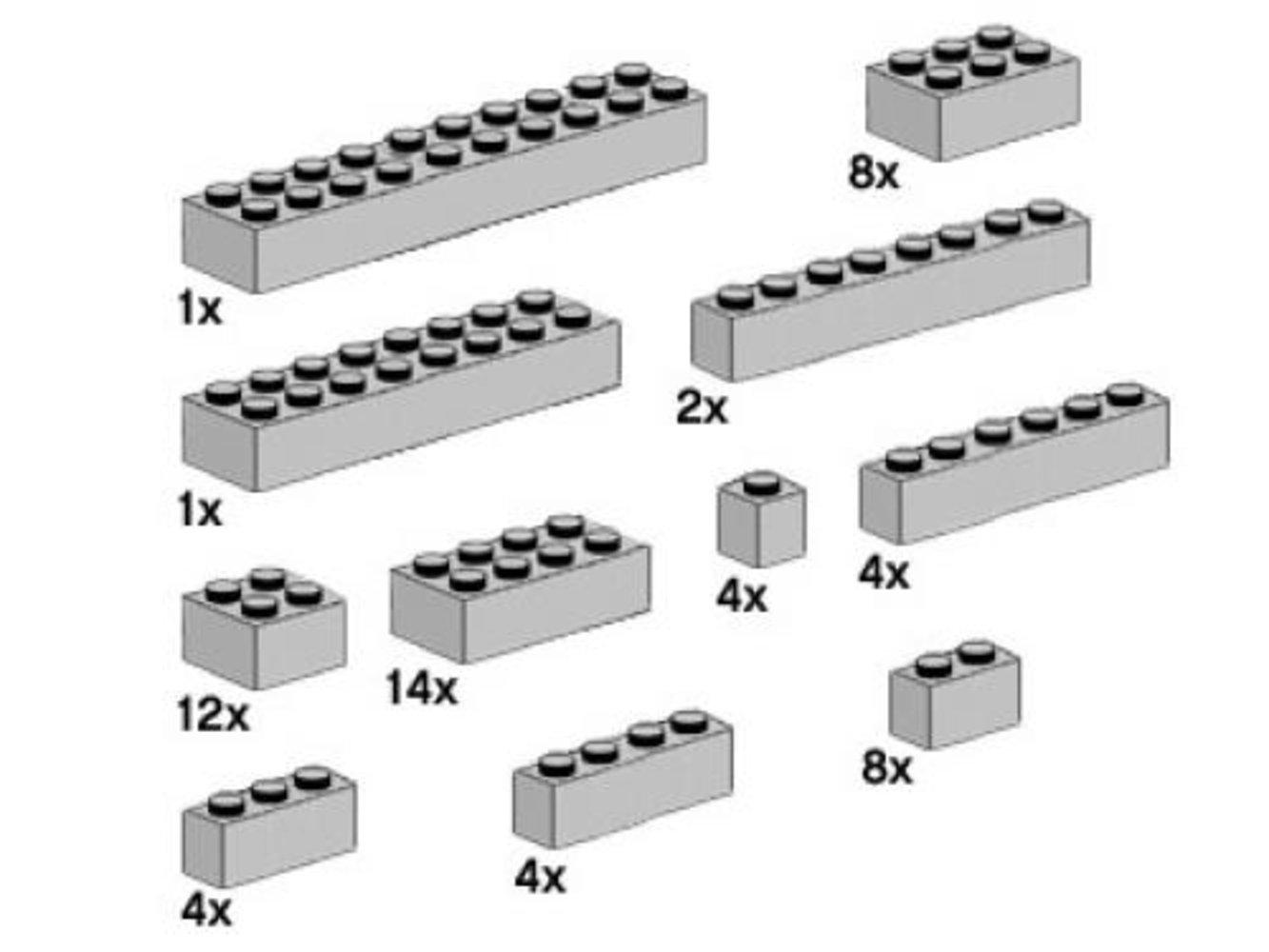 Assorted Light Gray Bricks