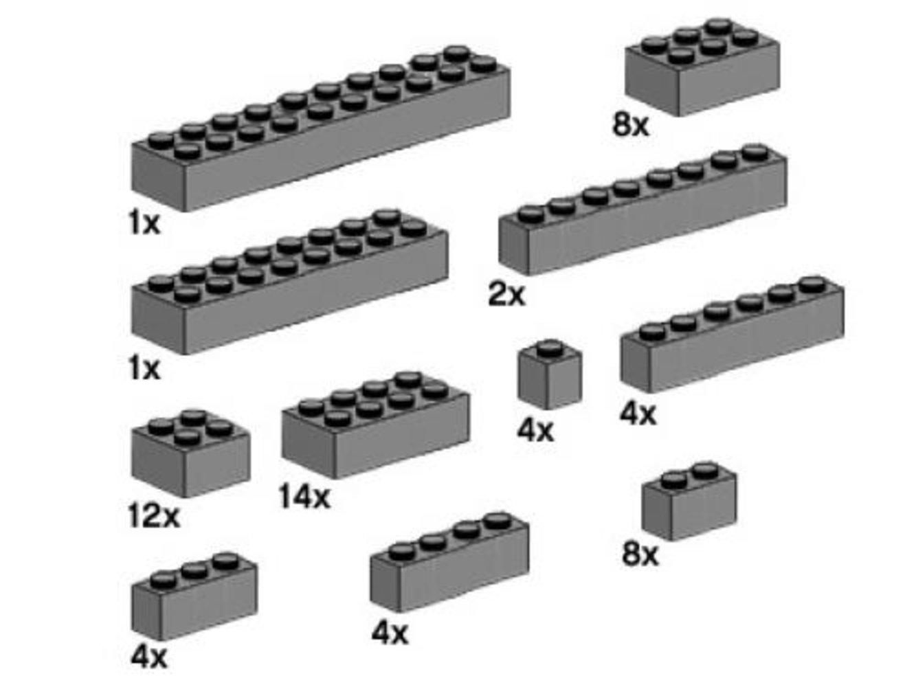 Assorted Dark Gray Bricks