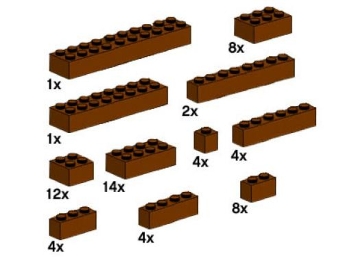 Assorted Brown Bricks