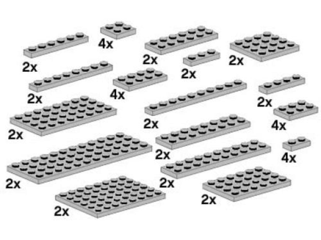 Assorted Light Gray Plates