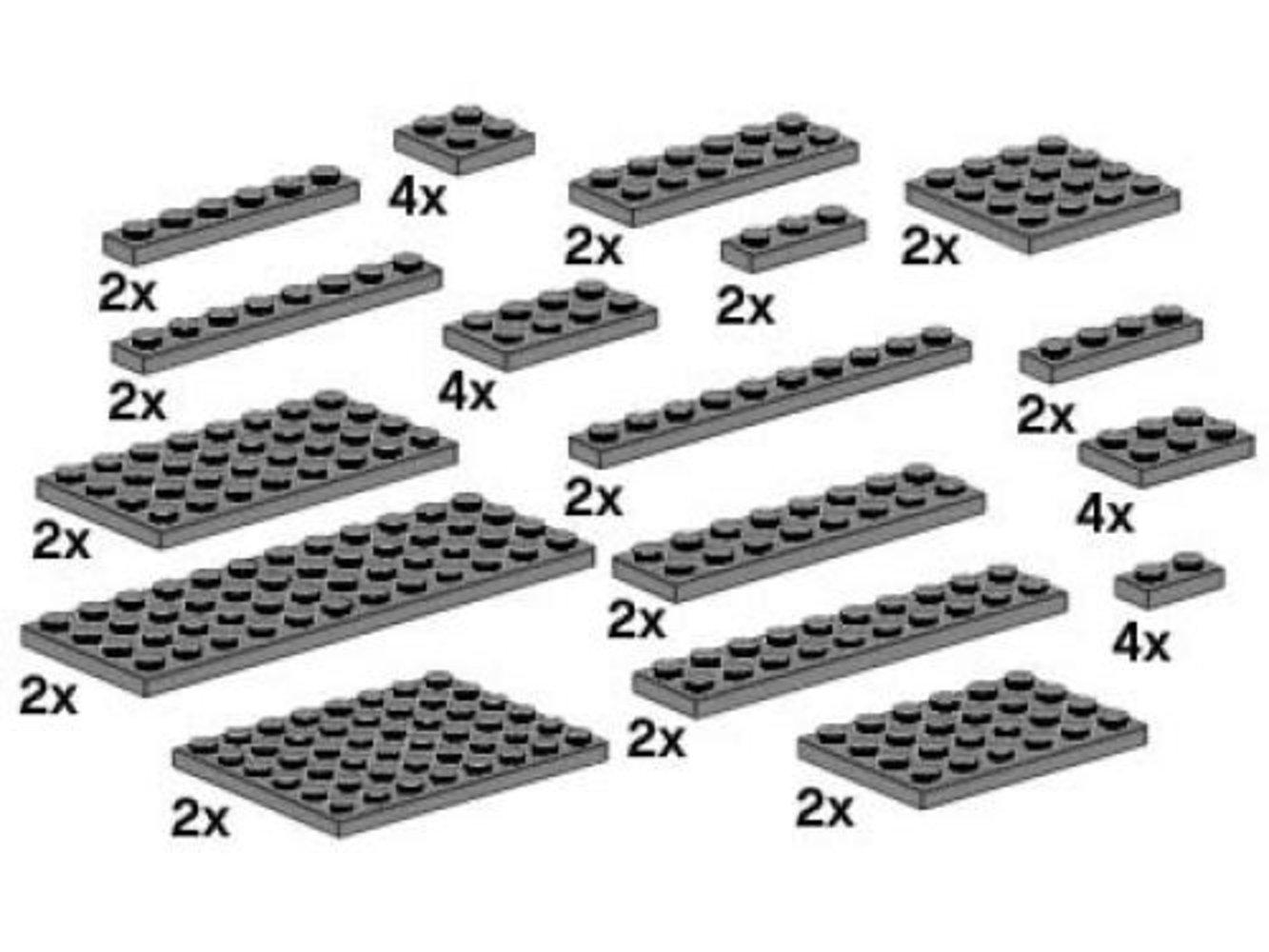Assorted Dark Gray Plates