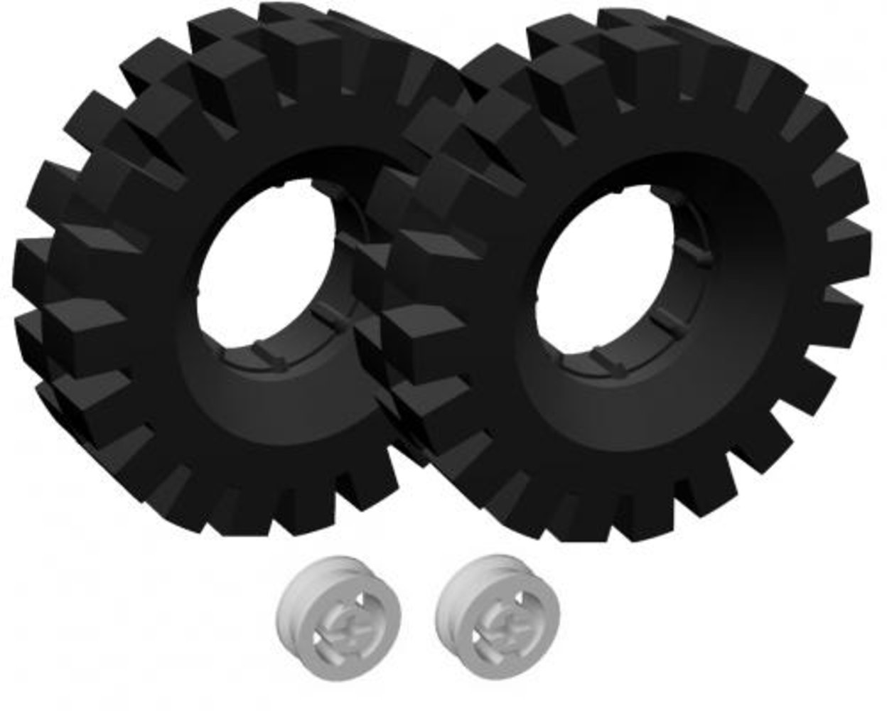 Tires (42 mm) and Hubs