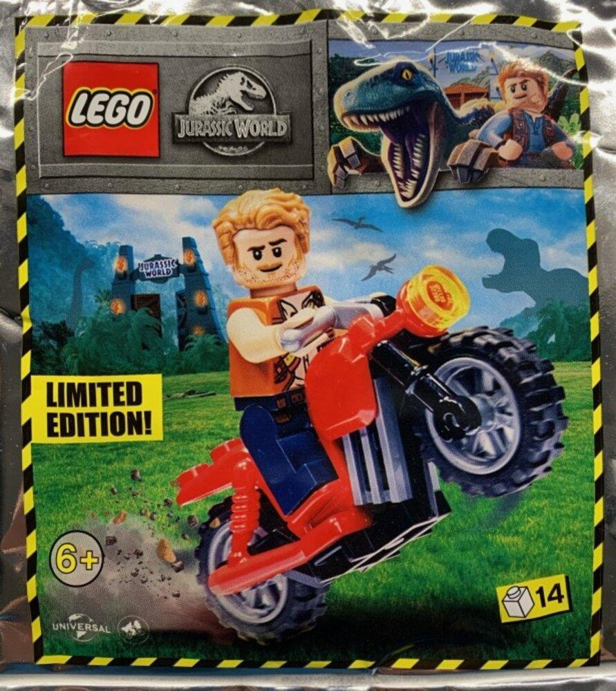 Owen Grady and Red Motorbike