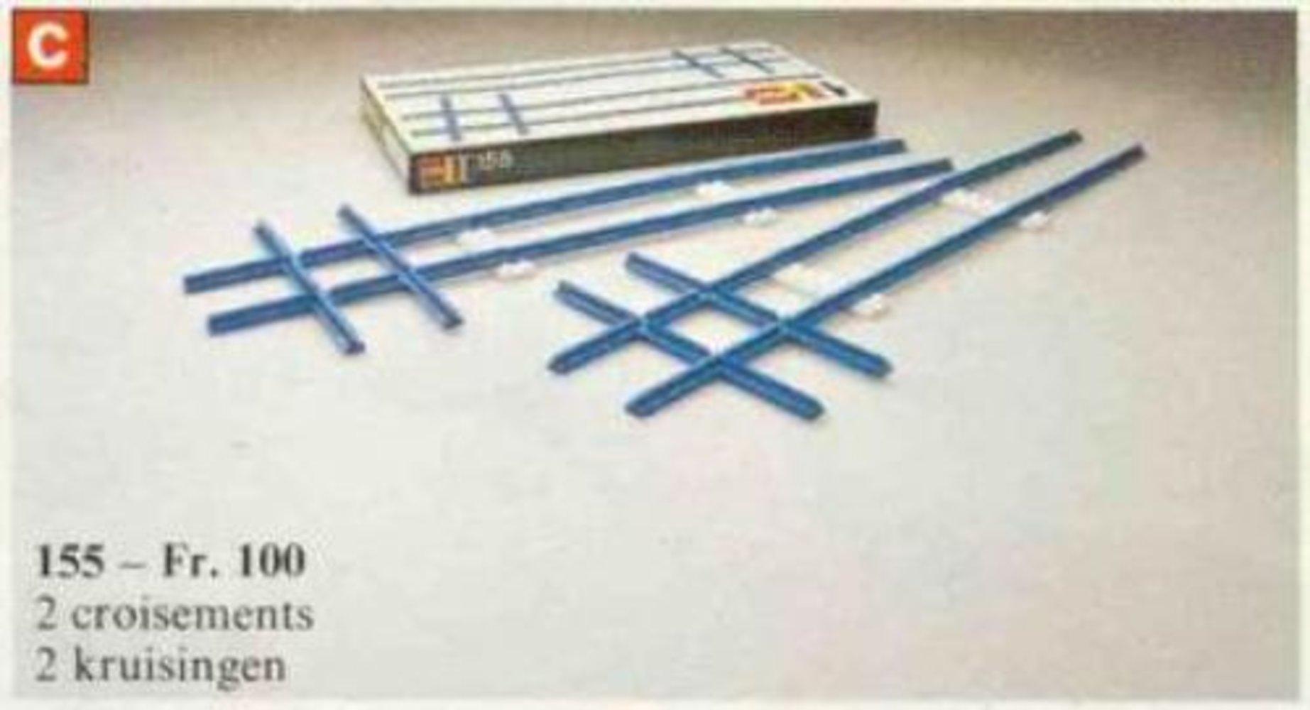 2 Cross Rails, 8 Straight Tracks, 4 Base Plates