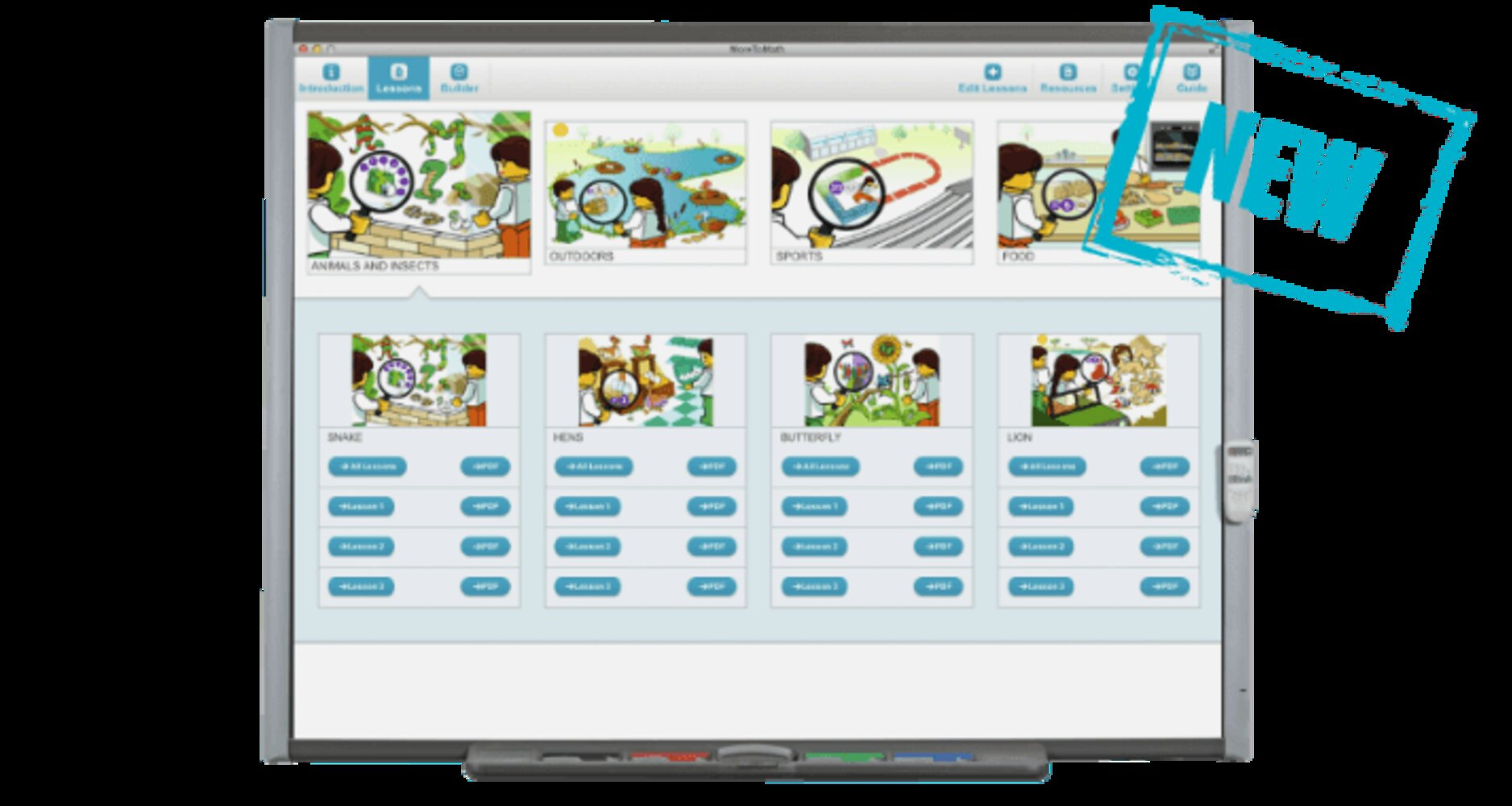 MoreToMath 1-2 Curriculum Pack and MathBuilder Software