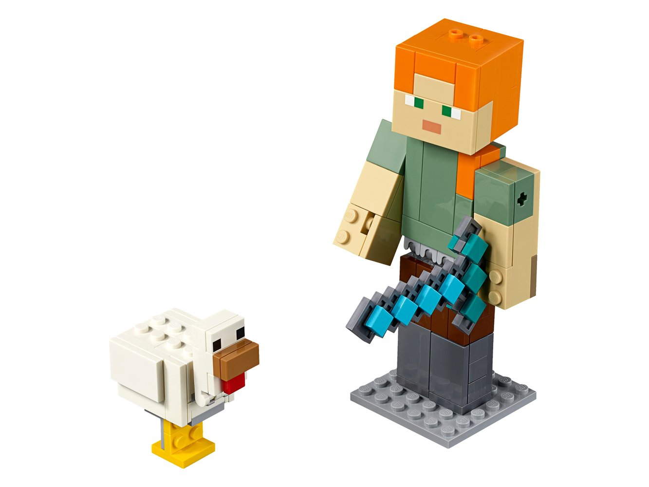 Minecraft Alex BigFig with Chicken