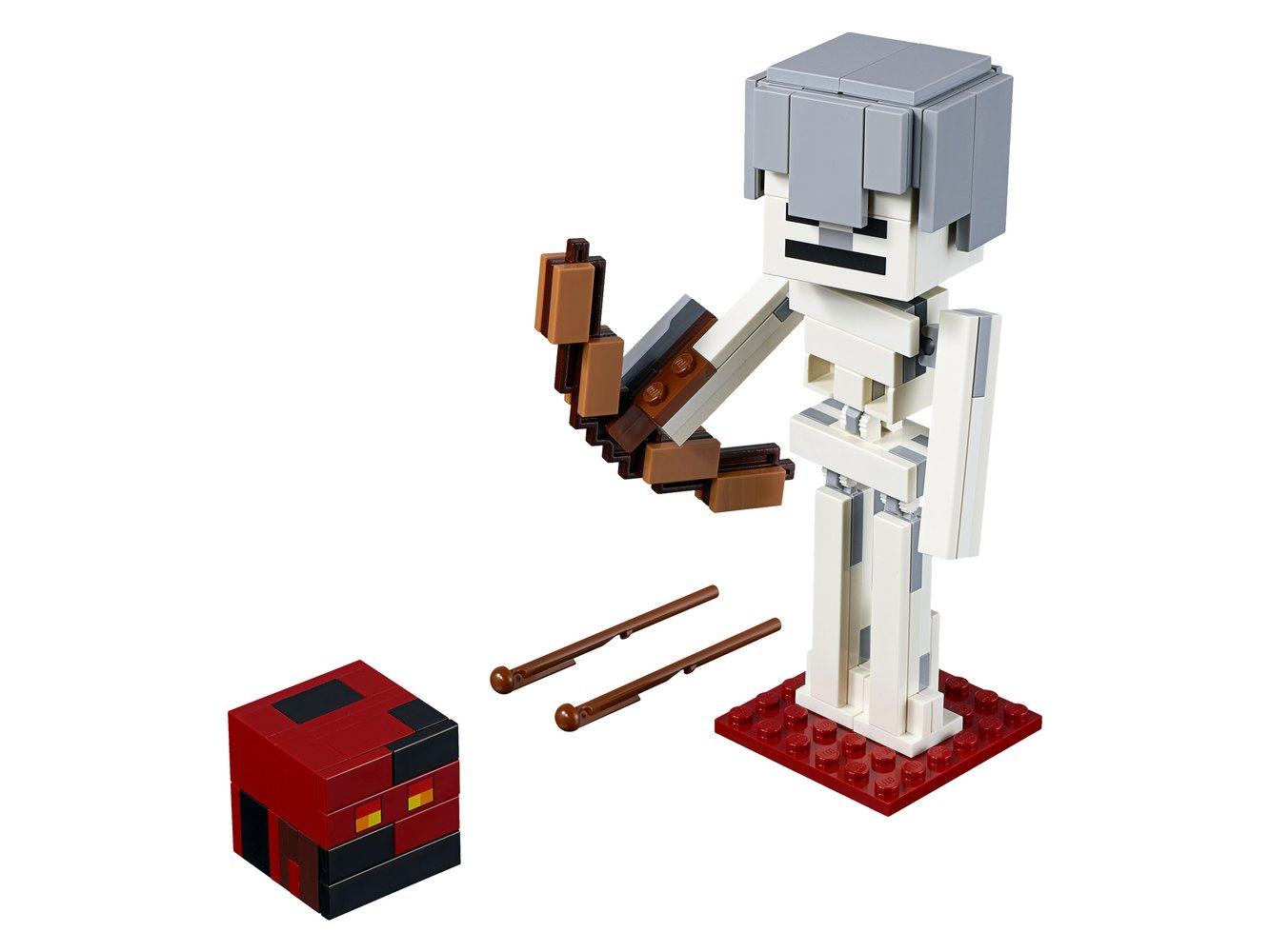 Minecraft Skeleton BigFig with Magma Cube