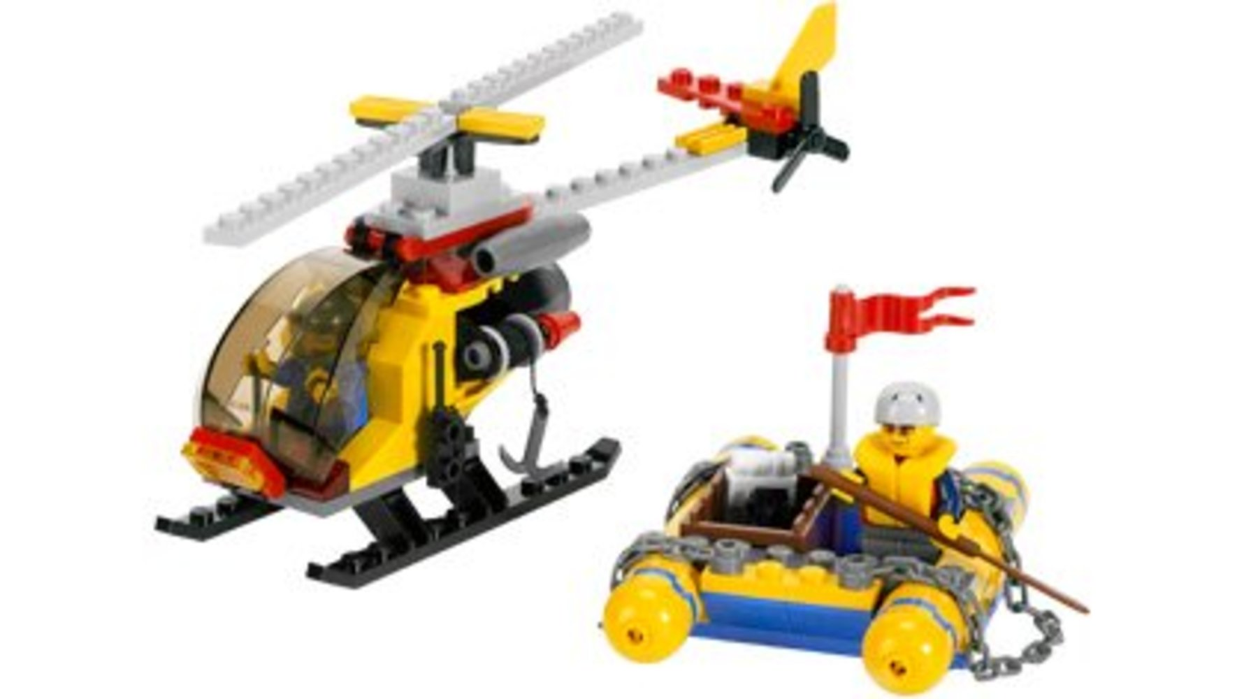 Helicopter and Raft