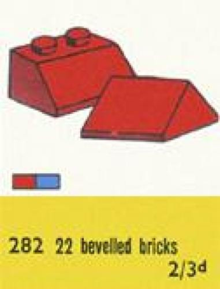 2 x 2 Sloping Roof Bricks, Red