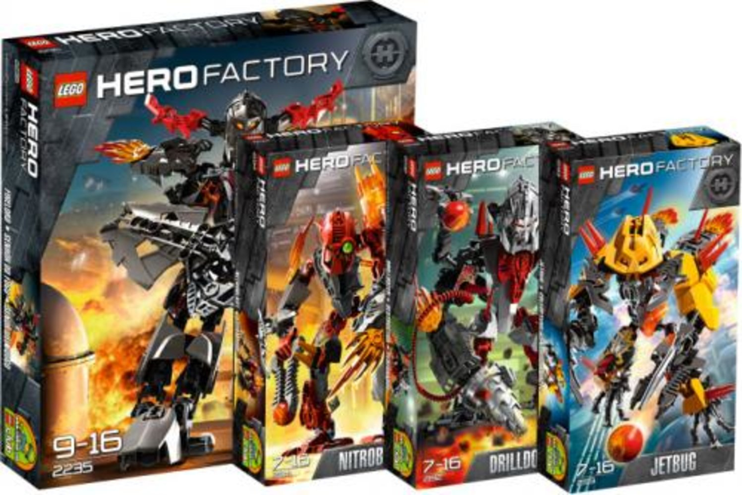 Hero Factory Fire Villains Collection