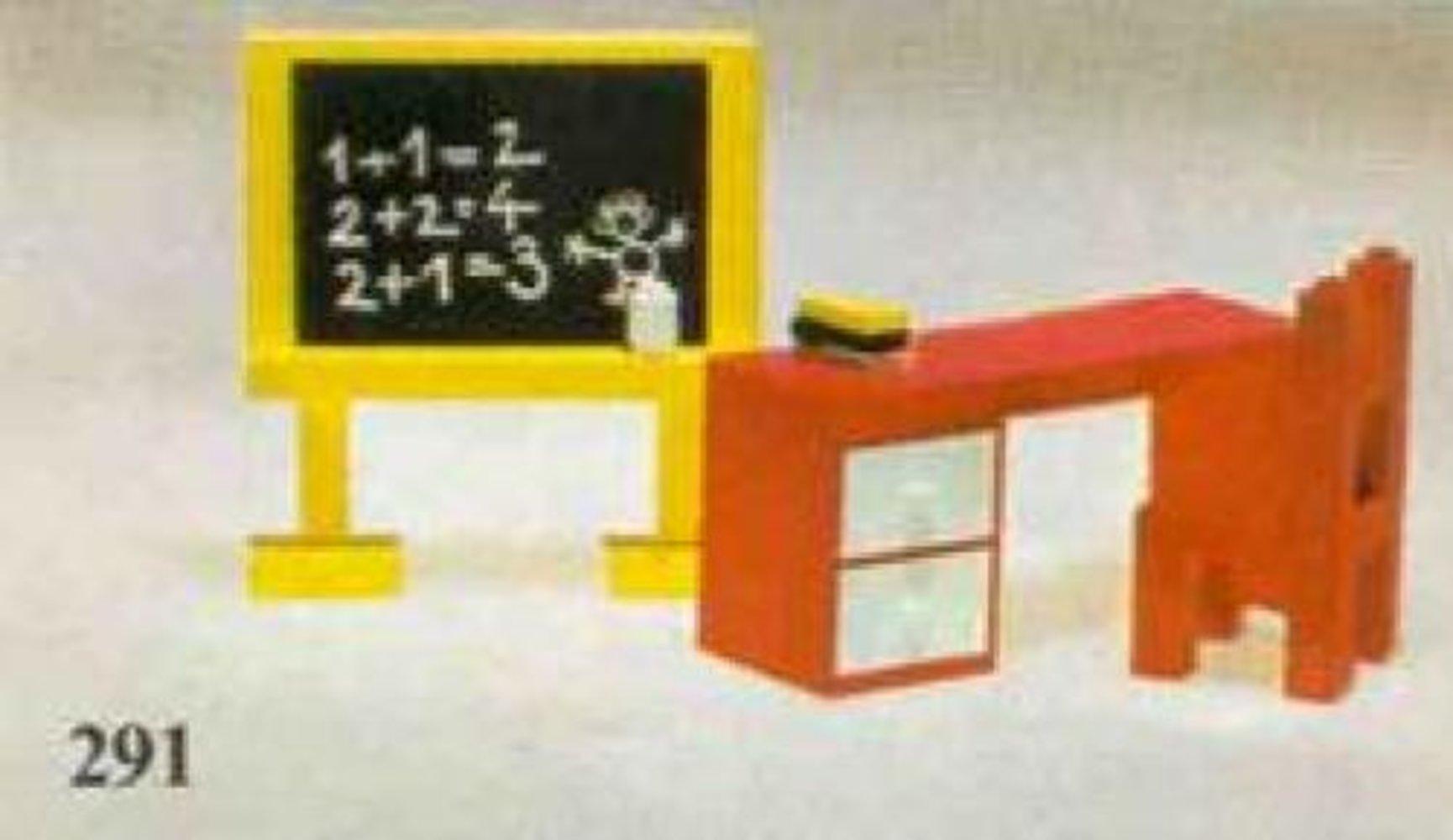 Blackboard and School Desk