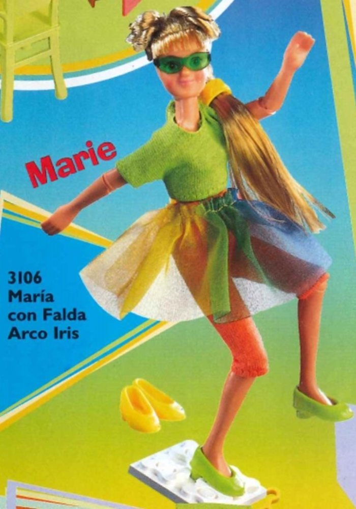 Marie in Rainbow Skirt