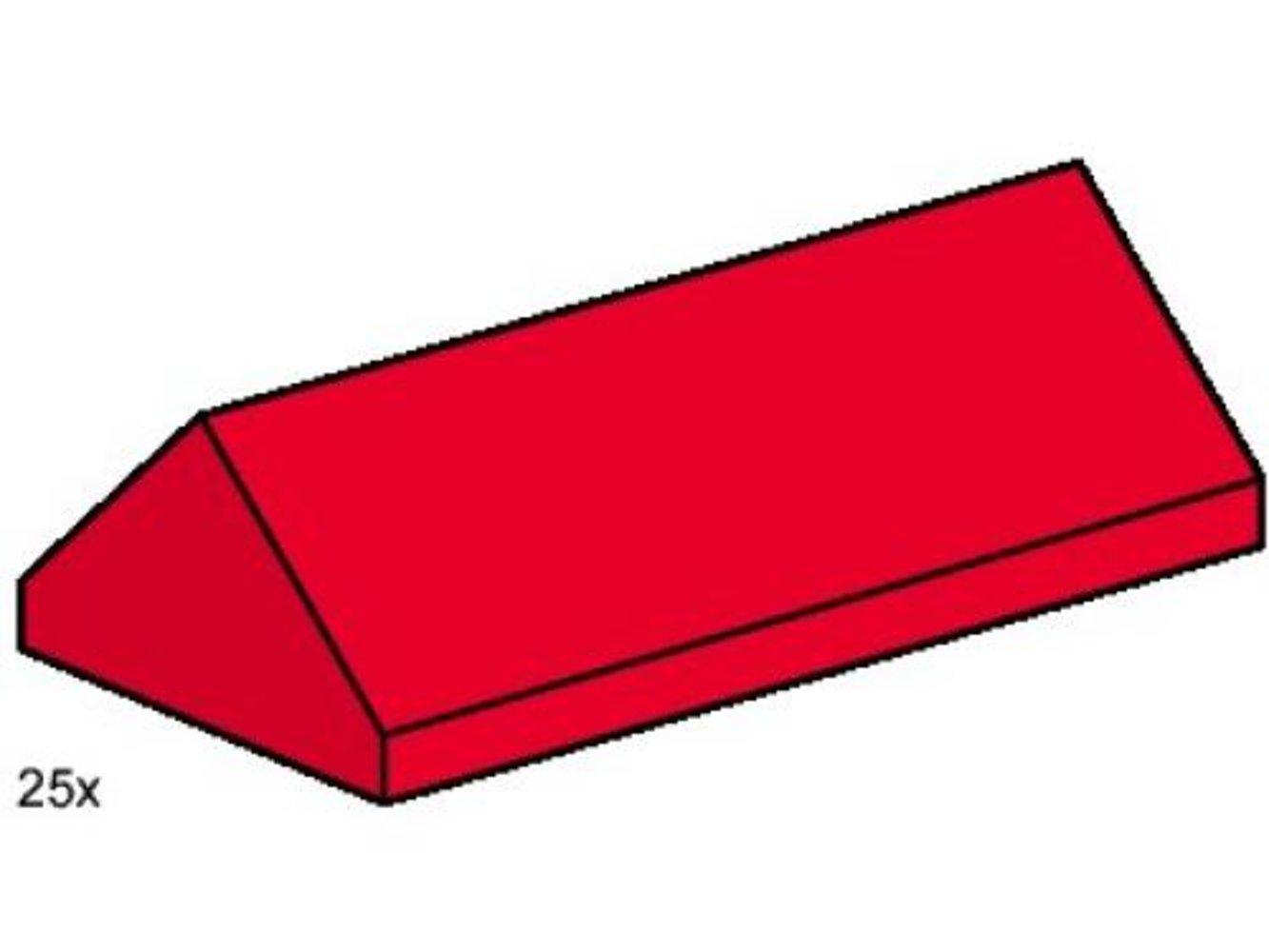 2 x 4 Ridge Roof Tiles Steep Sloped Red