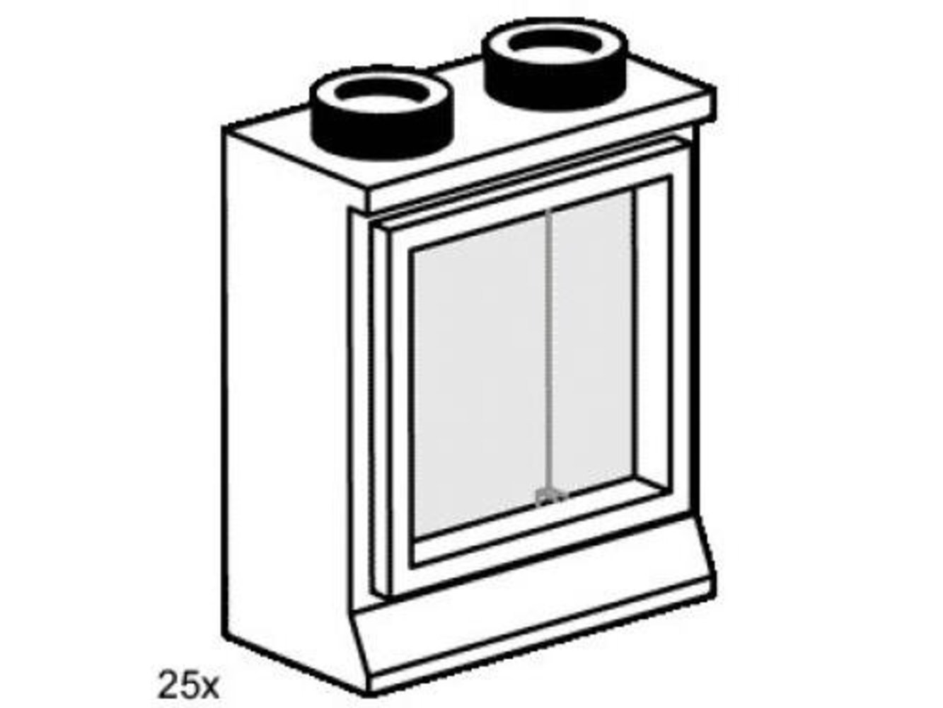 2 x 2 Window White