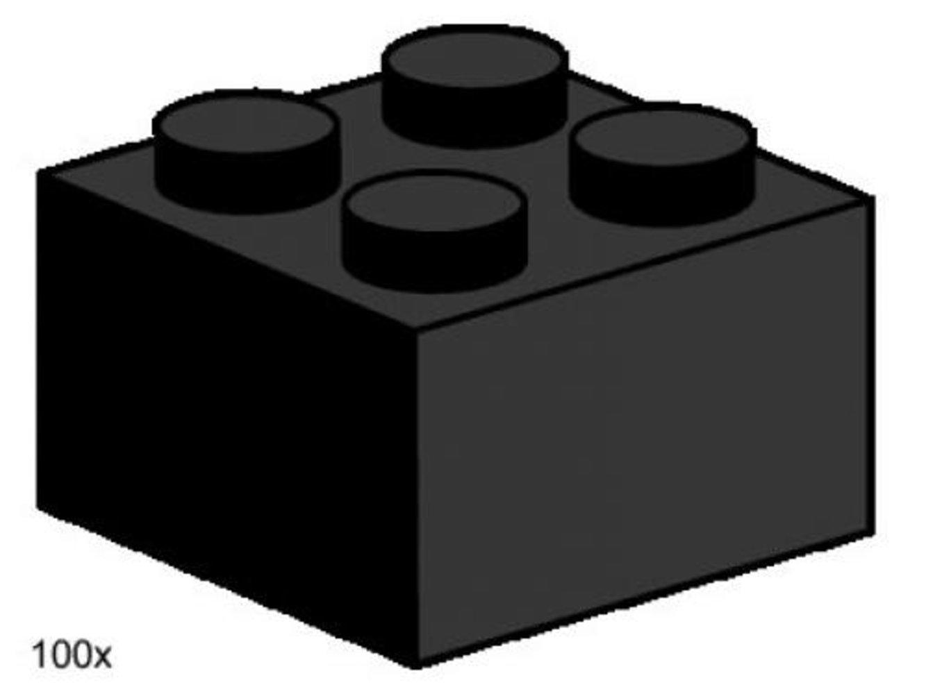 2 x 2 Black Bricks