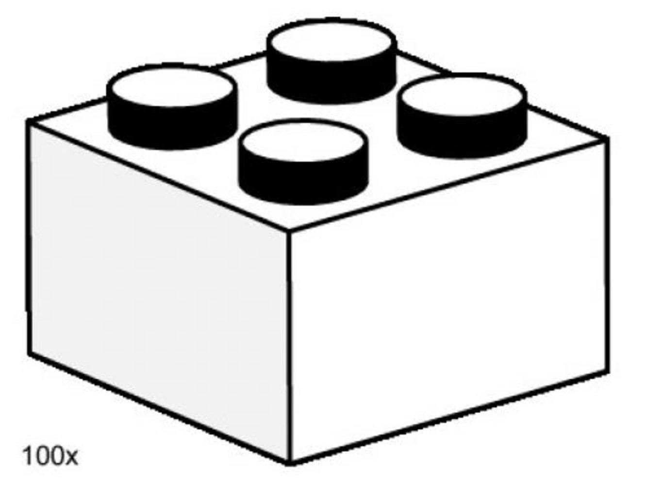 2 x 2 White Bricks