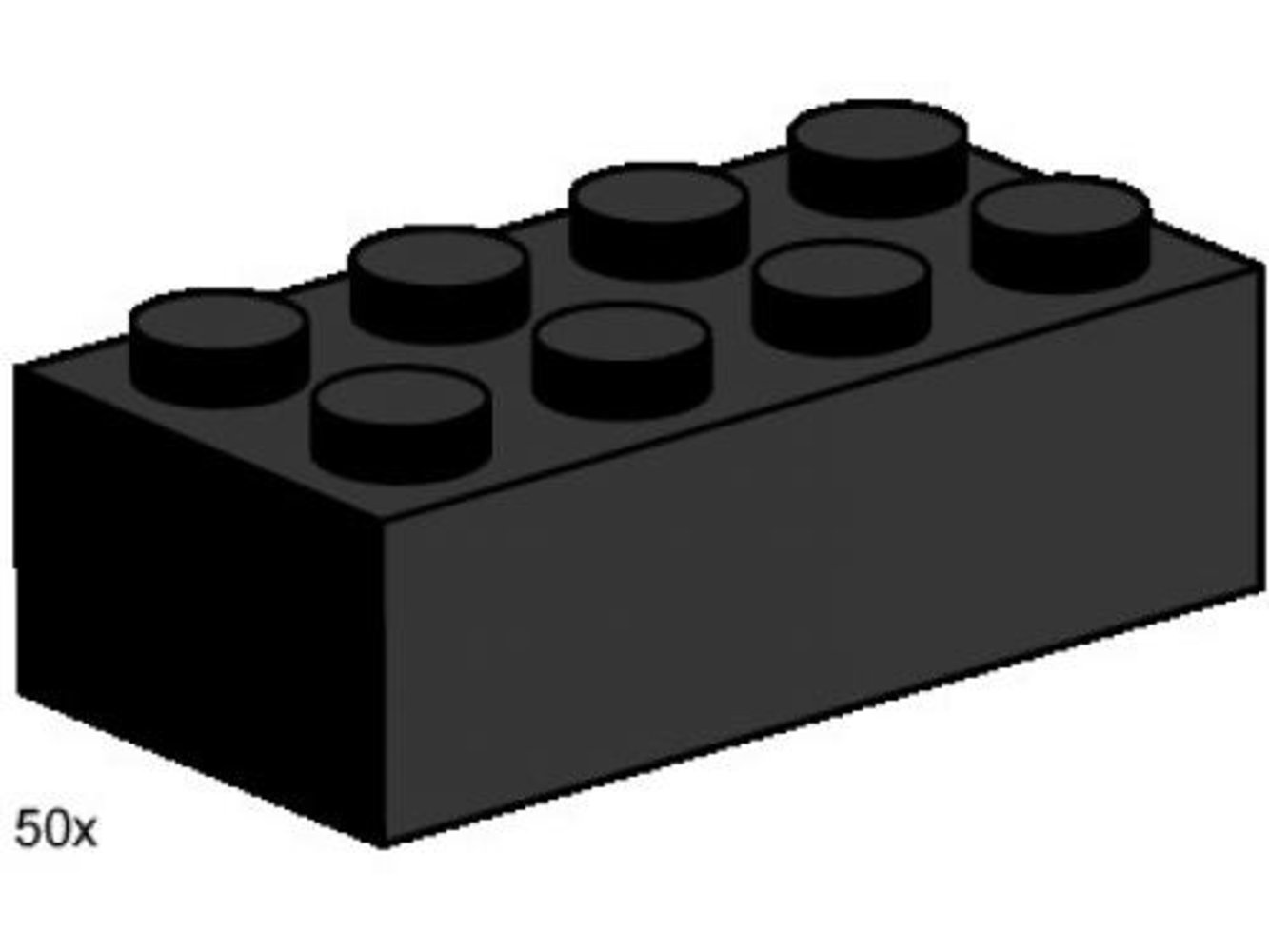 2 x 4 Black Bricks