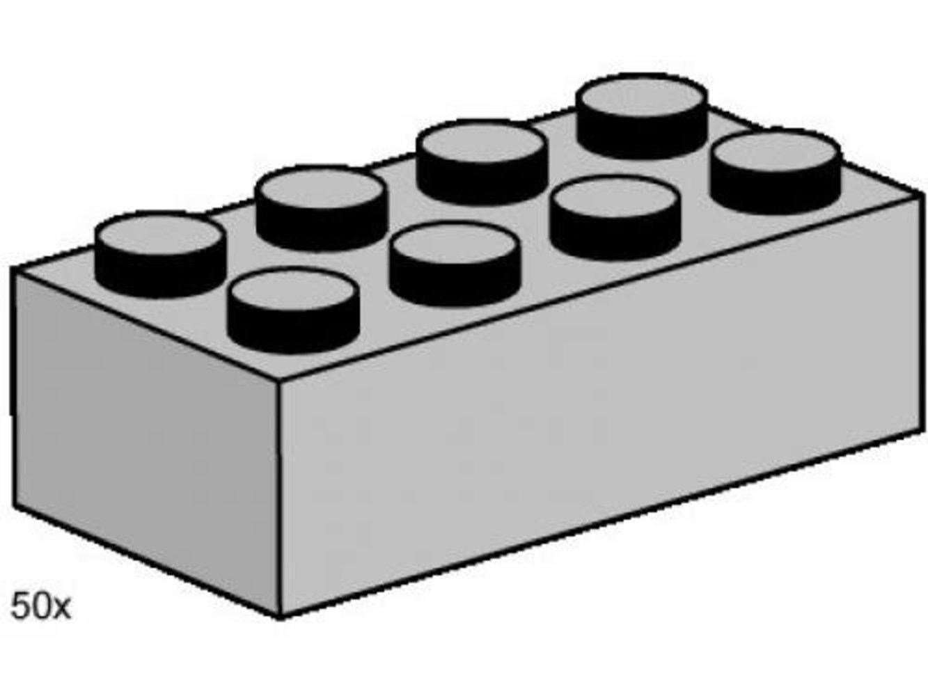 2 x 4 Light Gray Bricks