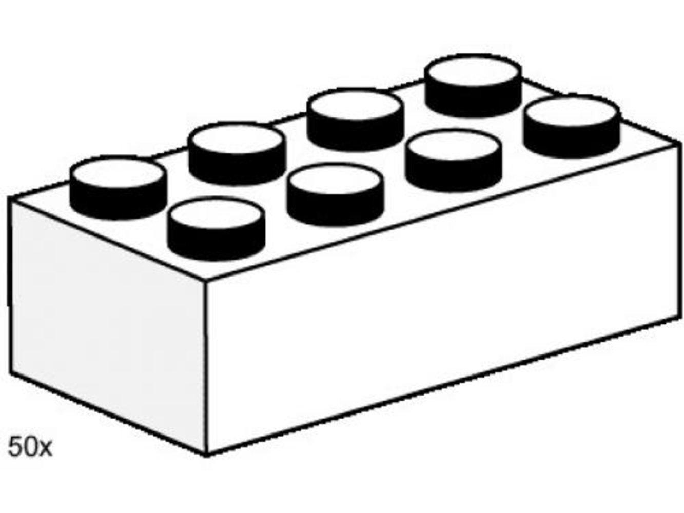 2 x 4 White Bricks