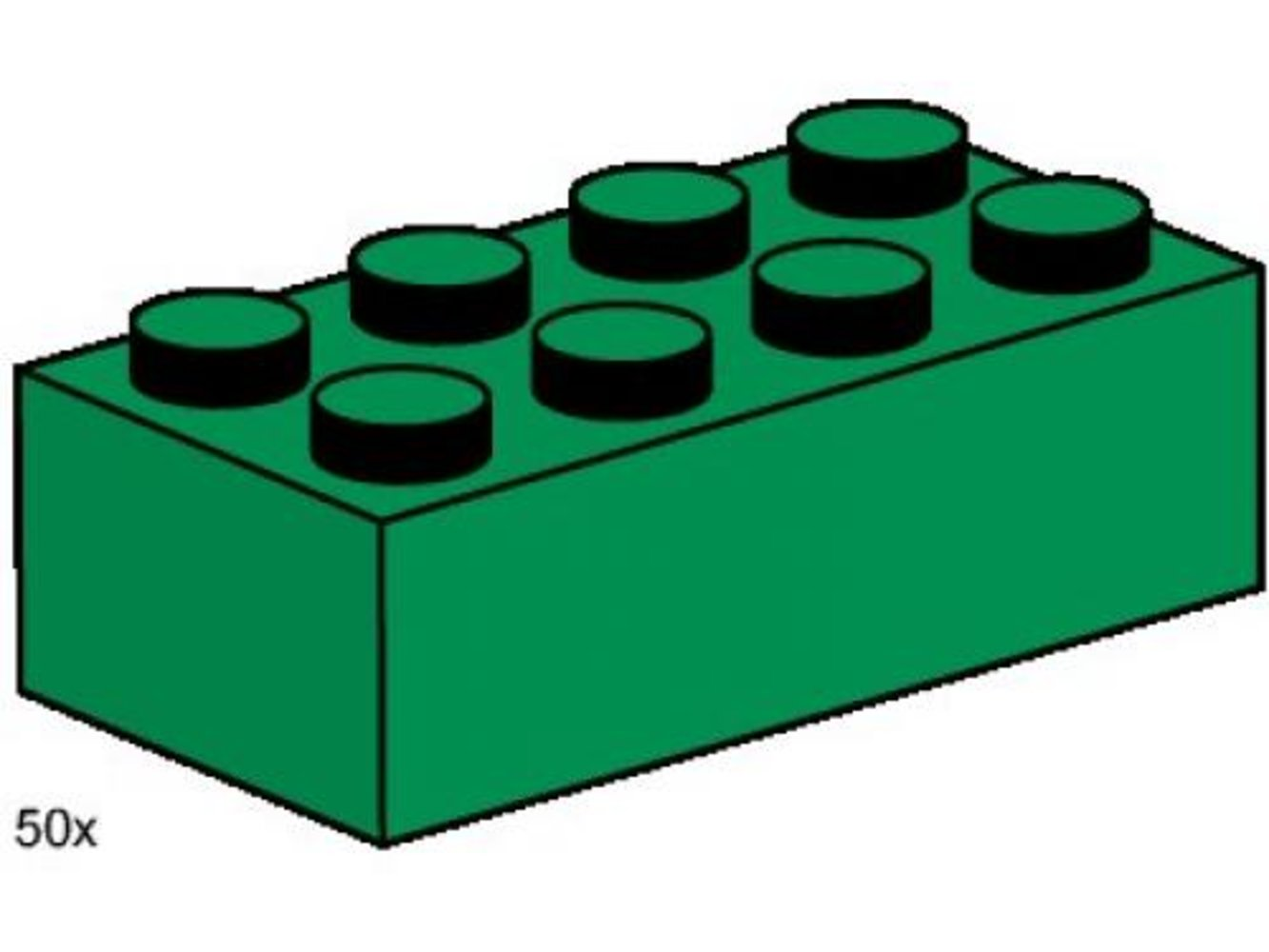 2 x 4 Dark Green Bricks
