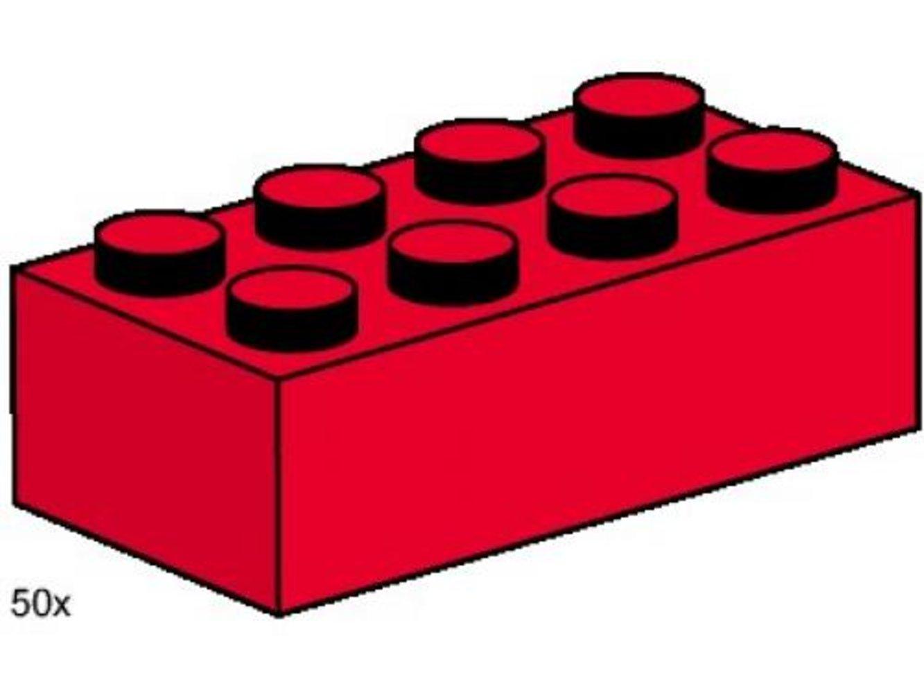 2 x 4 Red Bricks