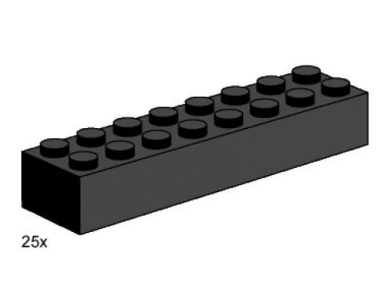 2 x 8 Black Bricks