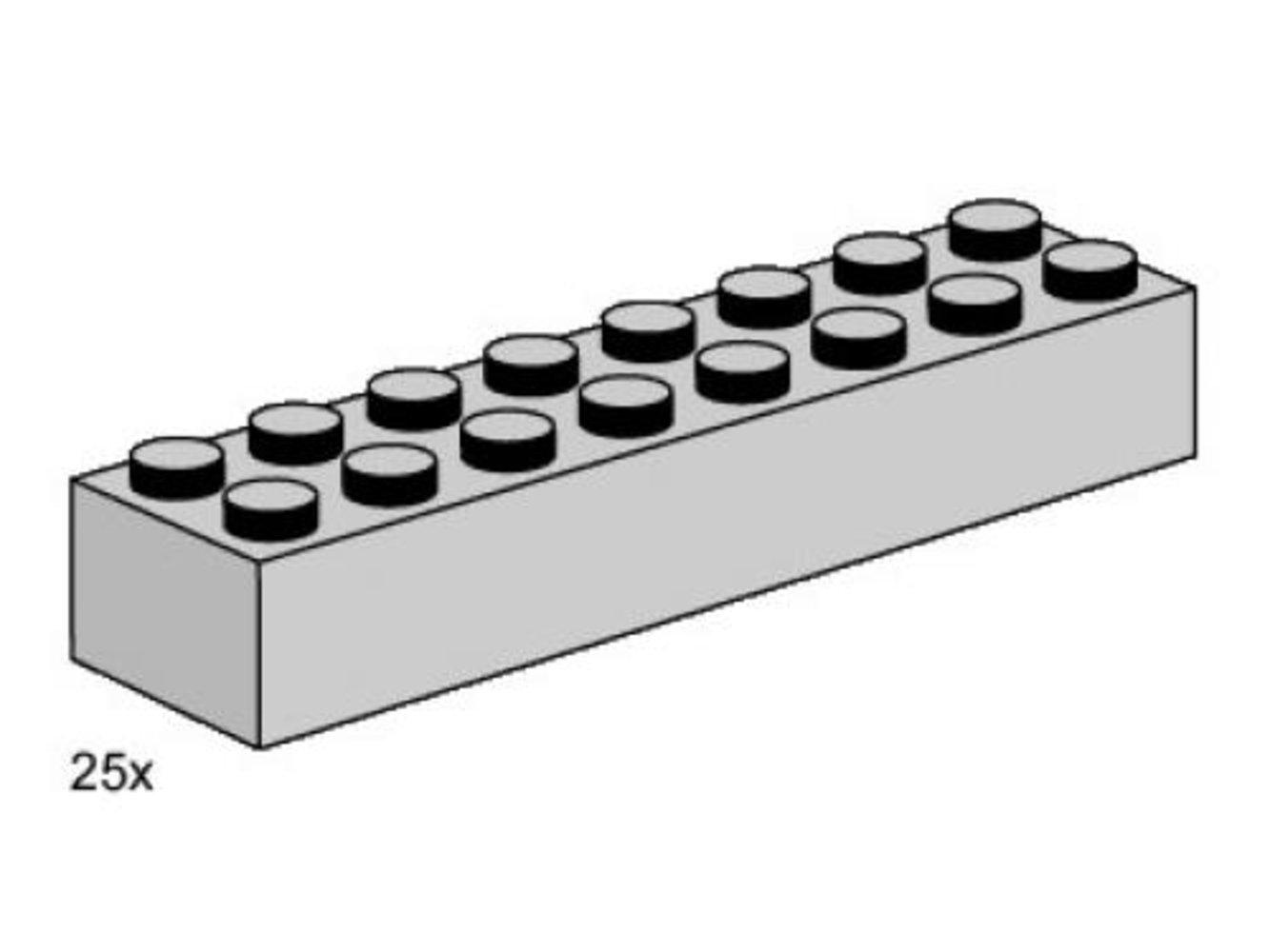 2 x 8 Light Gray Bricks