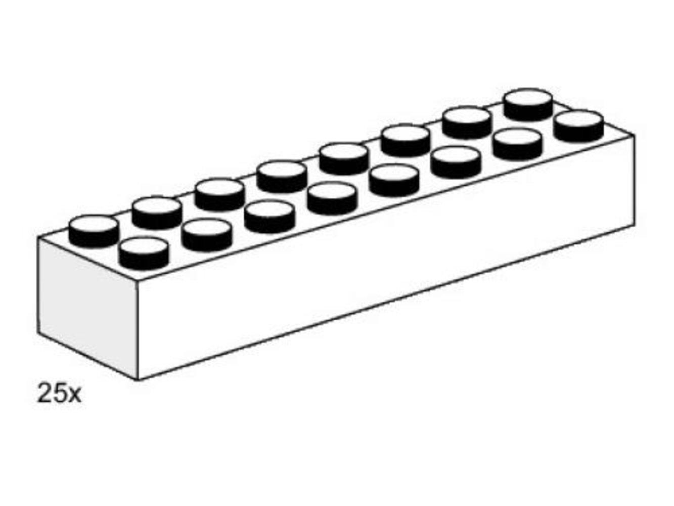 2 x 8 White Bricks