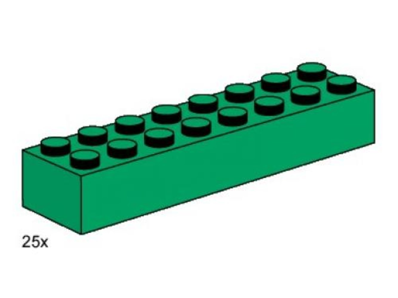 2 x 8 Dark Green Bricks