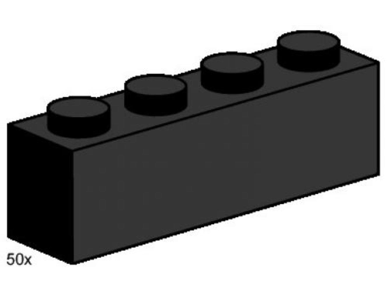 1 x 4 Black Bricks