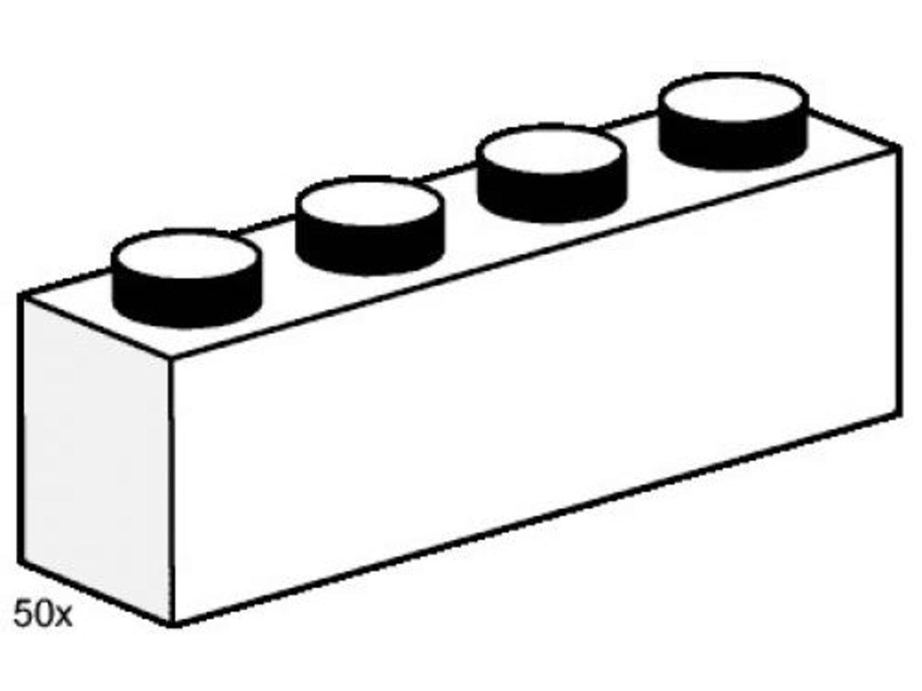 1 x 4 White Bricks