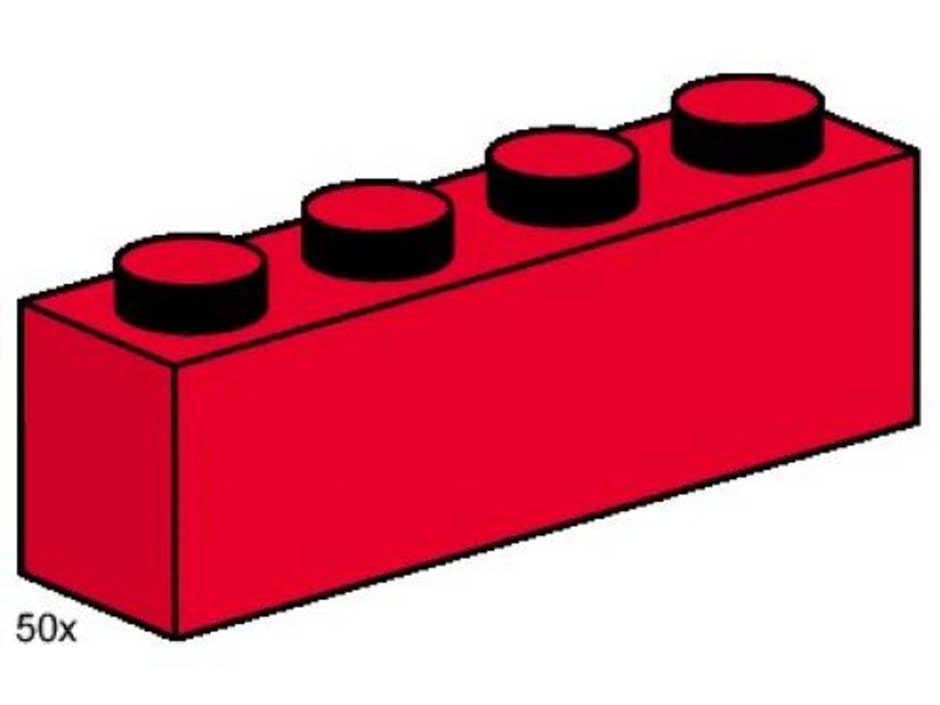 1 x 4 Red Bricks