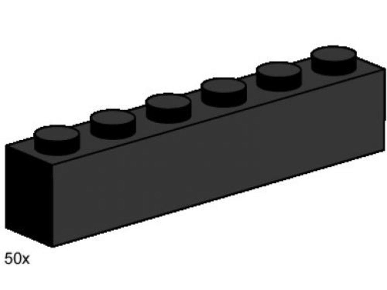 1 x 6 Black Bricks