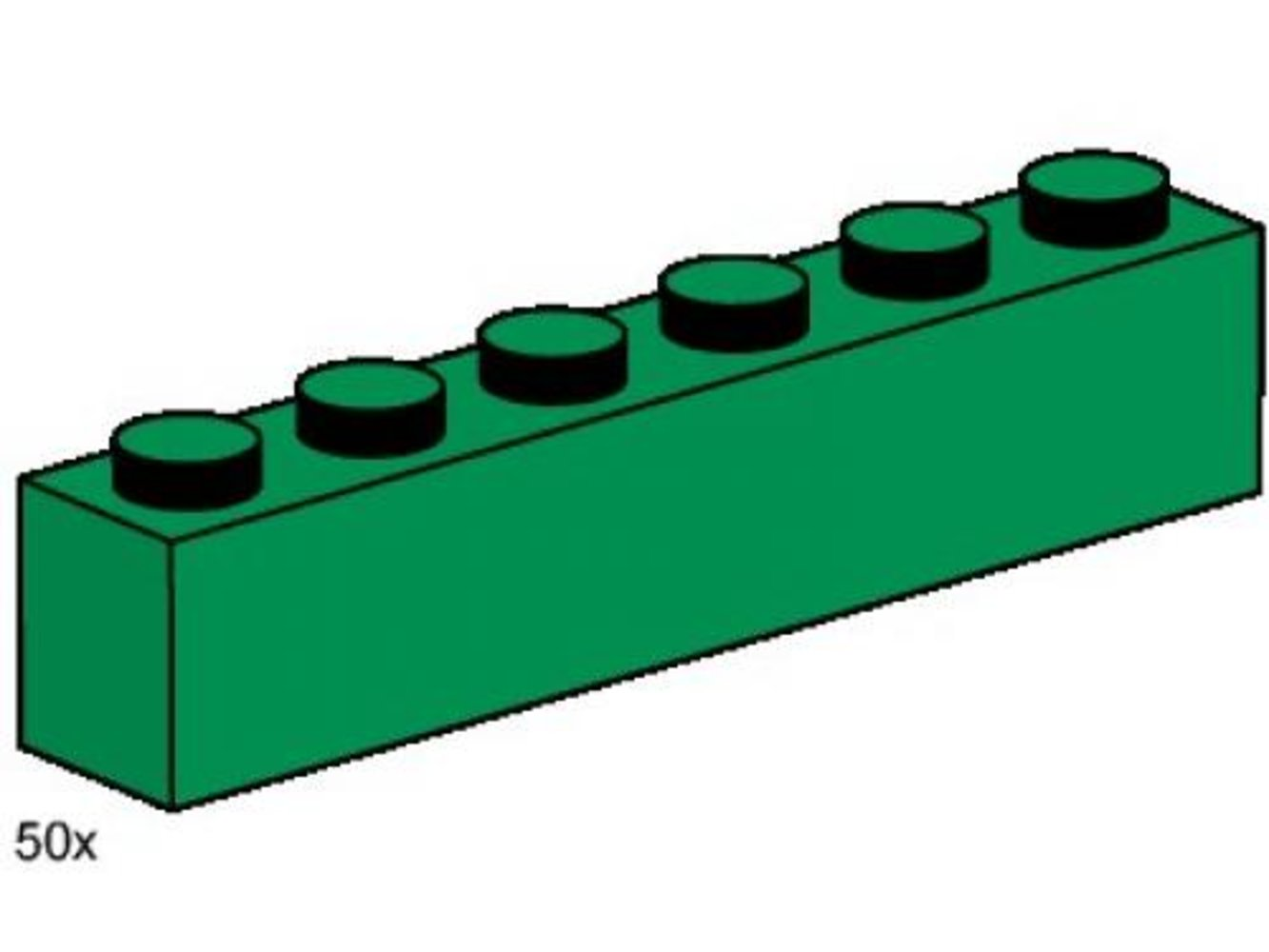 1 x 6 Dark Green Bricks