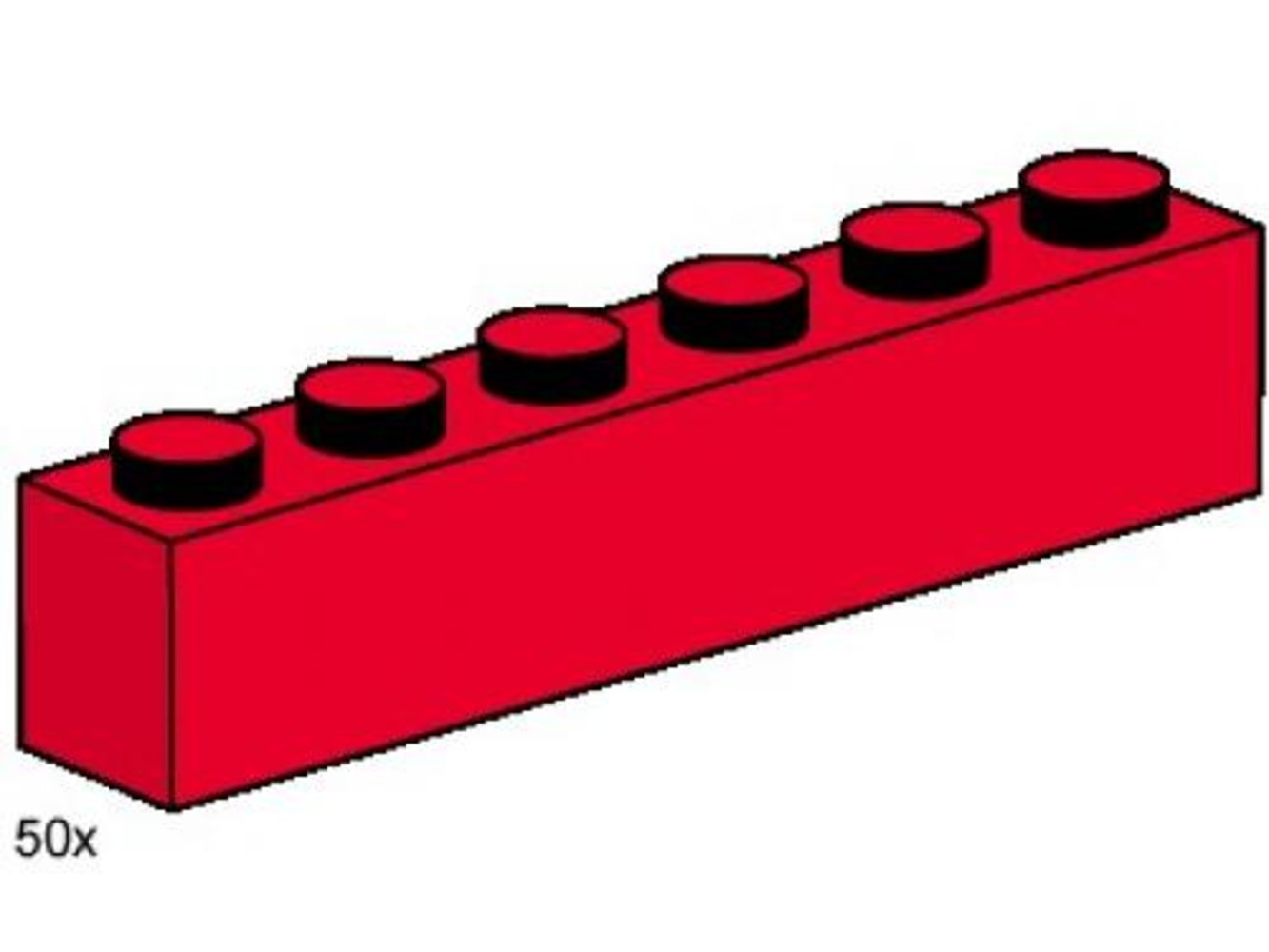 1 x 6 Red Bricks