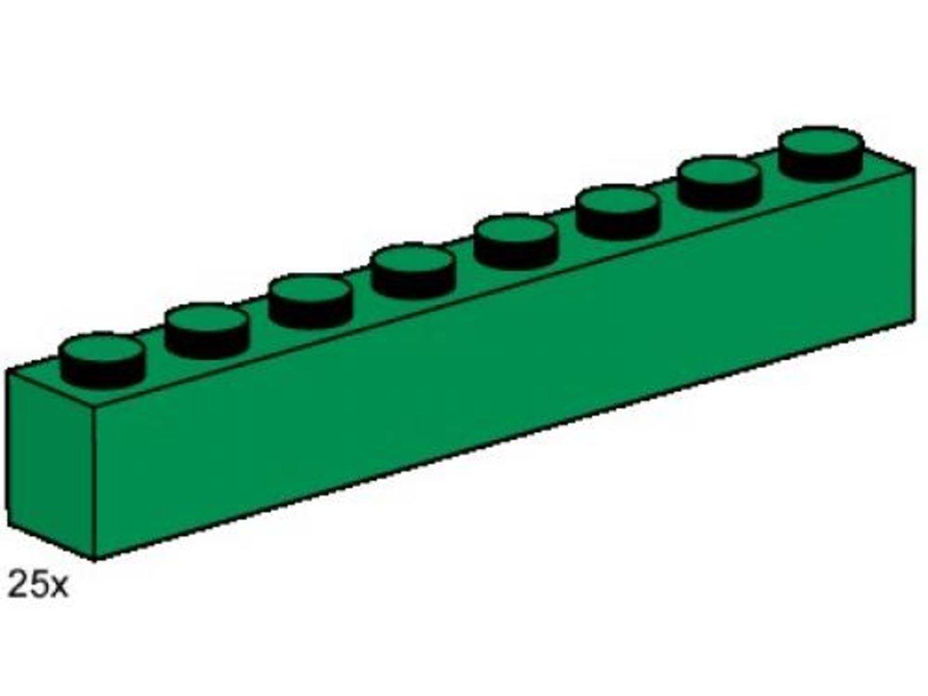 1 x 8 Dark Green Bricks