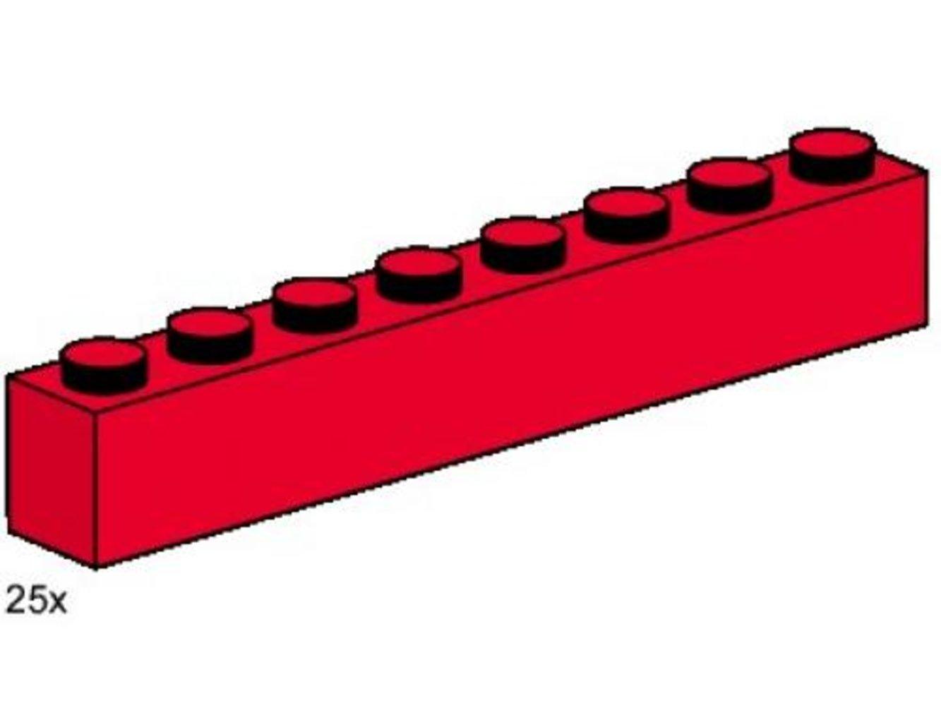 1 x 8 Red Bricks