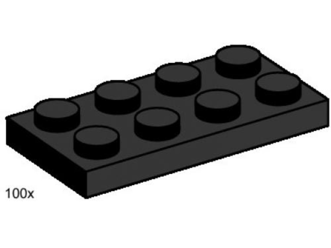 2 x 4 Black Plates