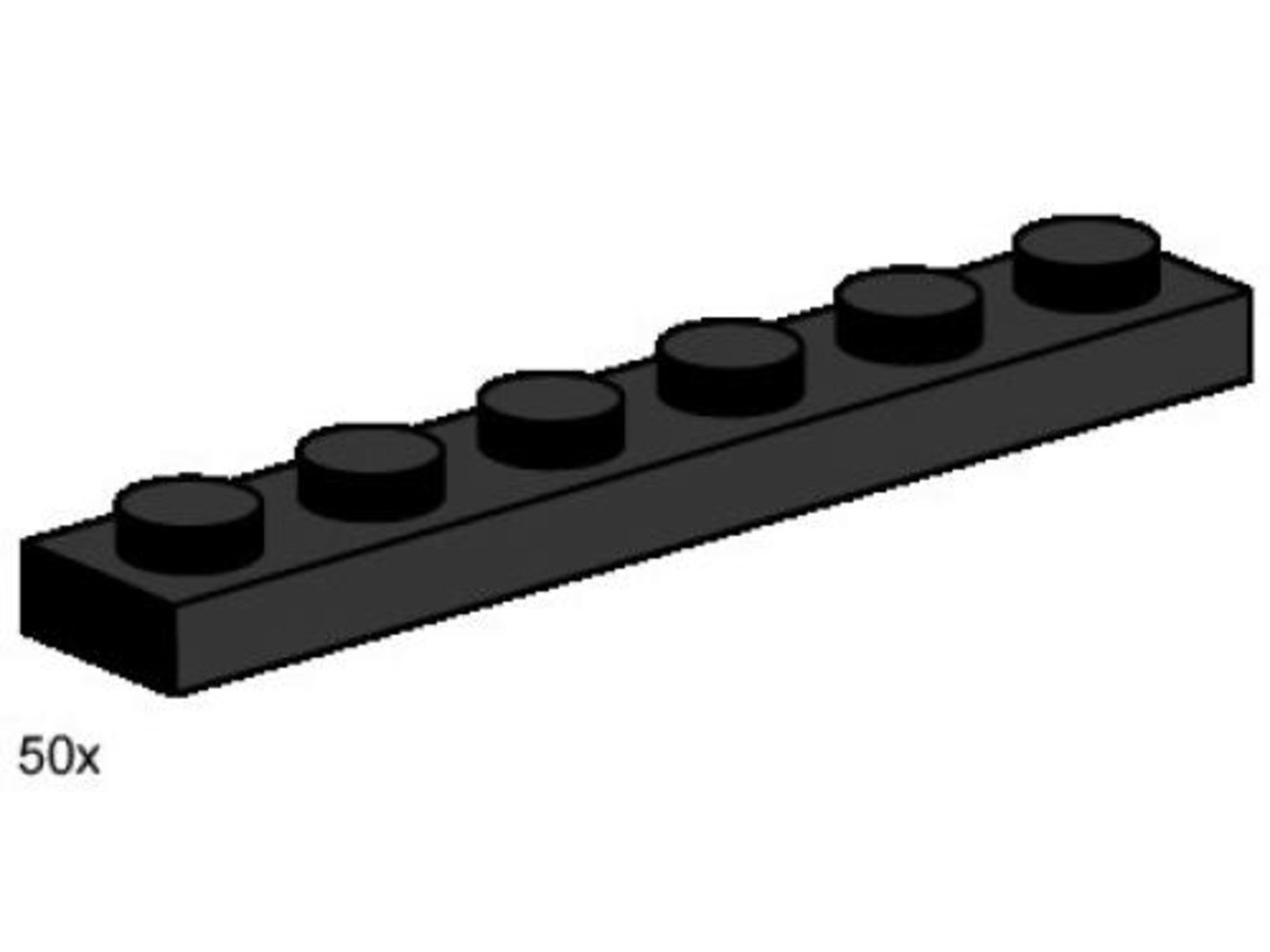 1 x 6 Black Plates