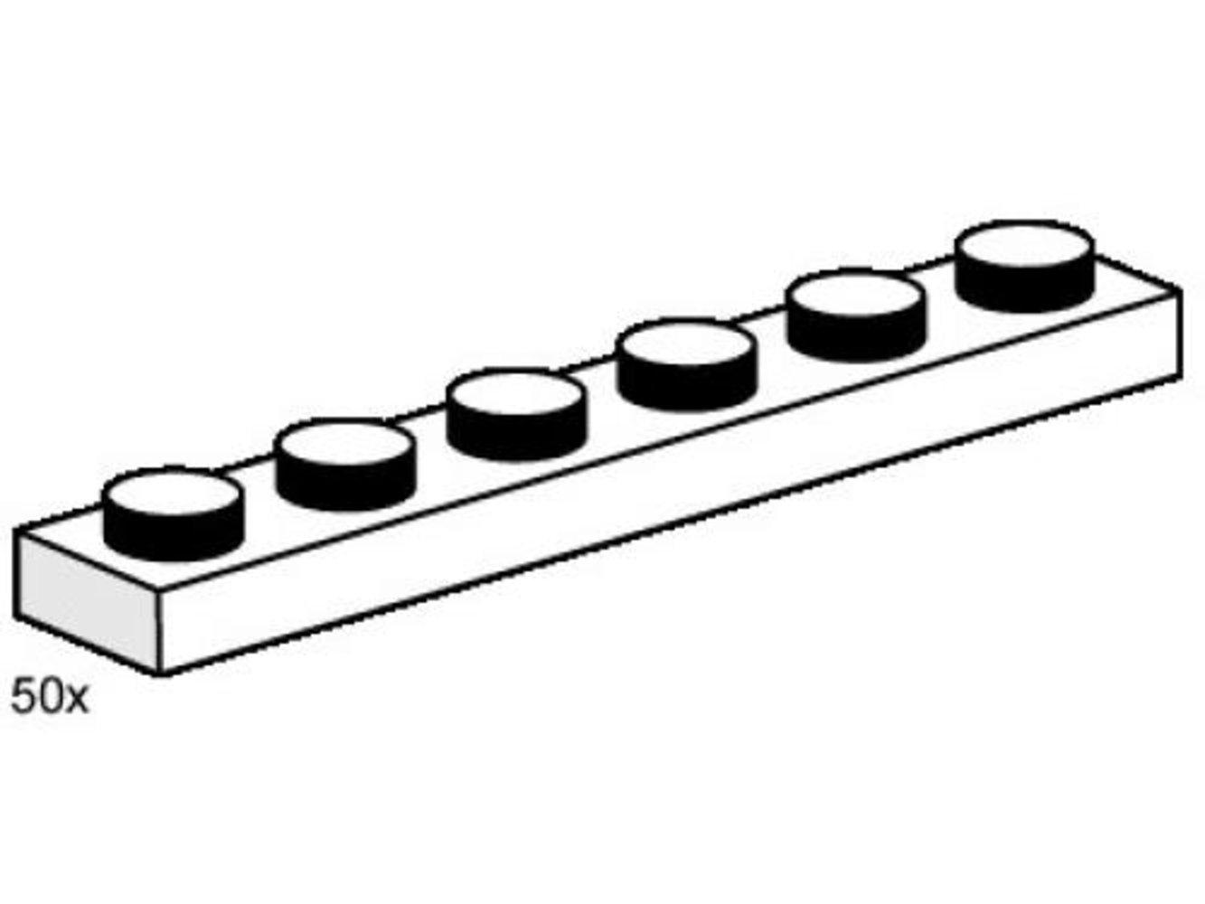1 x 6 White Plates